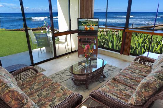 kauai beachfront condos kuhio shores 119 beachfront